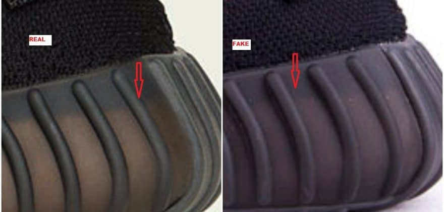 Real VS Fake Yeezy Boost 350 V2 Core Black-Red 3