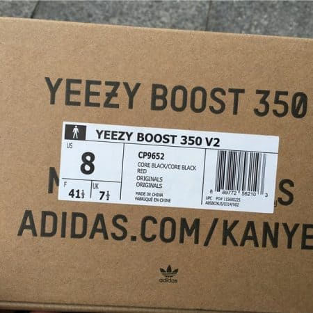 Real VS Fake Yeezy Boost 350 V2 Core Black-Red box