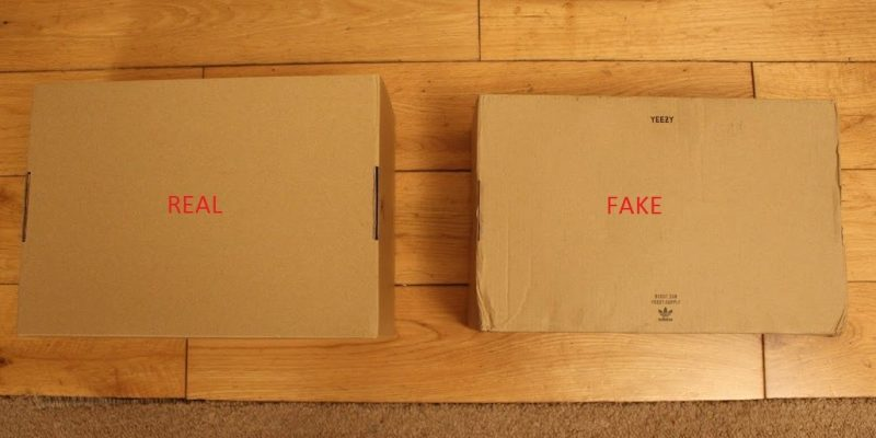 Real Vs Fake Box Yeezy 350 Boost Pirate Black