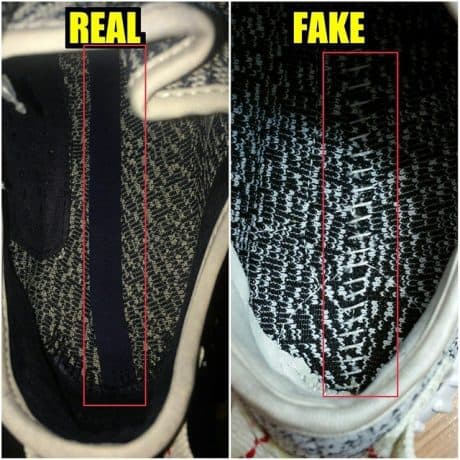Real Vs Fake Footbed Yeezy 350 Boost Turtle Dove