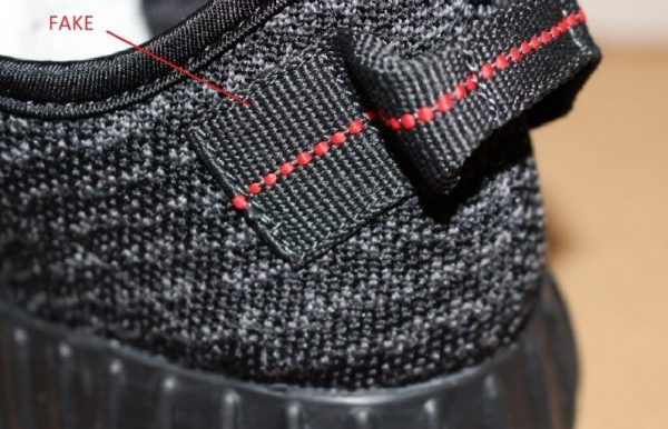 Real Vs Fake The Back 1 Yeezy 350 Boost Pirate Black