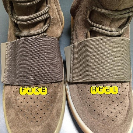 Real Vs Fake Yeezy Boost 750 Light Brown (Chocolate) 3