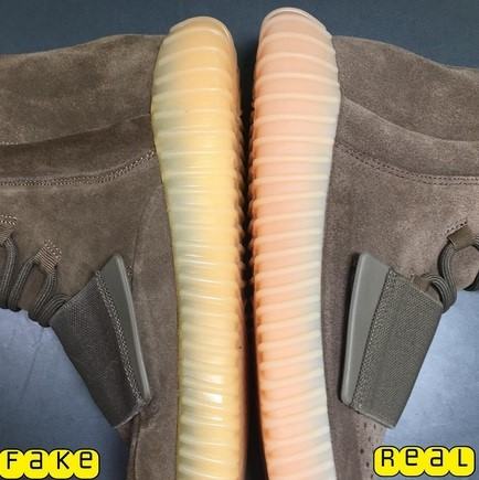 Real Vs Fake Yeezy Boost 750 Light Brown (Chocolate) 8
