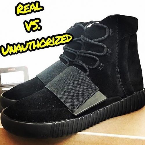 Real Vs Fake Yeezy Boost 750 Triple Black 1