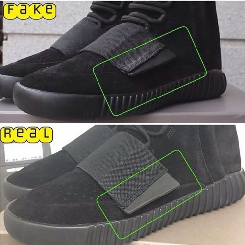 Real Vs Fake Yeezy Boost 750 Triple Black 2