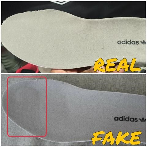Real Vs Fake insole Yeezy 750 Boost Grey.White